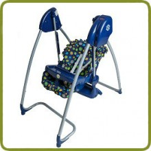 2 in 1 Highchair & electrical Baby Swing blue navy Homey - Highchairs and baby chairs