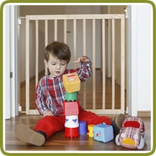 Safety gate Mona 79.5-88cm, wood - Safety Gates and Playpens, Promo