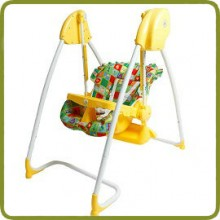 2 in 1 Highchair & electrical Baby Swing yellow lemon Homey - Highchairs and baby chairs