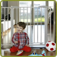 Safety gate Yael 72.5-81cm, metal, white (ext to 132cm) - Safety Gates and Playpens, Promo