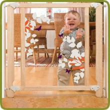Safety gate Lilou 79.5-88cm, wood + polycarbonate - Safety Gates and Playpens