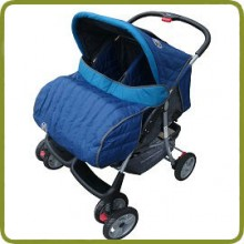 Deluxe Tandem - Twin Pram turquoise-  - Prams and Pushchairs, Promo