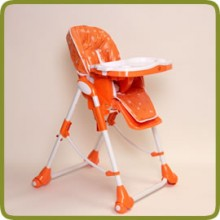 High Chair Up and Down orange incl. double tray - Highchairs and baby chairs