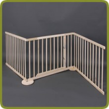 Expansible safety gate room divider playpen 180-240cm, wood, 3 elements, img 1 - Safety Gates and Playpens