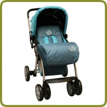 Footcover for Drive & Walk system alu, blue - Prams and Pushchairs