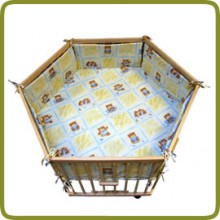 Hexagonal playpen insert yellow - Playpens and Walkers, Safety Gates and Playpens