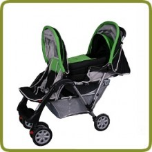 Exclusive Tandem - Twin Pram green - - Prams and Pushchairs