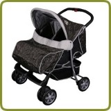 Deluxe Tandem - Twin Pram brown - - Prams and Pushchairs