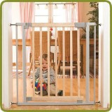 Safety gate Lola 73-82,5 cm, wood + metal, grey (ext to 138,5 cm) - Safety Gates and Playpens