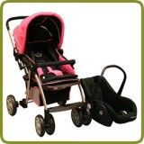 Drive & Walk travel system pink - Prams and Pushchairs
