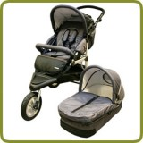 3 wheeler pram + carry cot gray - Prams and Pushchairs