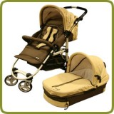 Combo pram + carry cot brown  - Prams and Pushchairs, Promo