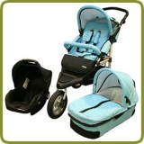 3in1 Drive & Walk System Jogger blue - Prams and Pushchairs