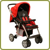 Deluxe puschchair, red, aluminium - Prams and Pushchairs, Promo