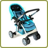 Deluxe puschchair, blue, aluminium - Prams and Pushchairs, Promo