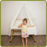 Bed side cot all inclusive 90x40cm, white - Beds