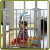 Safety gate Yael 72.5-81cm, metal, grey (ext to 132cm) - Safety Gates and Playpens