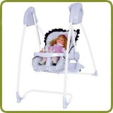 2 in 1 Highchair & electrical Baby Swing white snow Homey - Highchairs and baby chairs