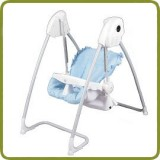 2 in 1 Highchair & electrical Baby Swing blue Homey - Highchairs and baby chairs, Promo