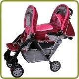 Exclusive Tandem - Twin Pram rose - - Prams and Pushchairs