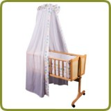 Cradle incl. bedlinen set dots - Cradles and Bouncers