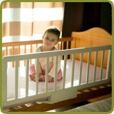 Wooden Bed rail Safe night white - Safety Gates and Playpens