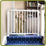 Safety gate Clic Clac 71.5-109.5cm, wood, white - Safety Gates and Playpens