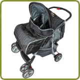 Deluxe Tandem - Twin Pram black - - Prams and Pushchairs