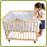 Playpen rectangular + insert dots - Playpens and Walkers