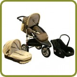 3in1 Drive & Walk System Jogger beige - Prams and Pushchairs
