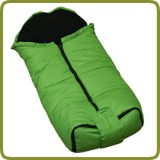 Winter-Footmuff Fleece green - Prams and Pushchairs