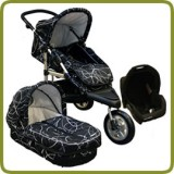 3in1 Drive & Walk System Jogger  black - Prams and Pushchairs
