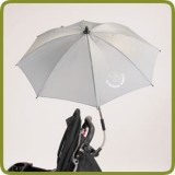 Parasol for baby's pram pushchair 70 cm grey - Prams and Pushchairs