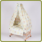 Bed side cot all inclusive 90x40cm, yellow - Beds