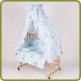 Bed side cot all inclusive 90x40cm, blue - Beds