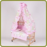 Bed side cot all inclusive 90x40cm, rose - Beds