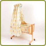 Cradle incl. bedlinen set yellow  - Cradles and Bouncers