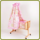 Cradle incl. bedlinen set pink - Cradles and Bouncers