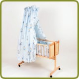 Cradle incl. bedlinen set blue - Cradles and Bouncers