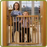 Safety gate Nicolas 78,5 - 113,5cm, wood - Safety Gates and Playpens