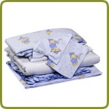 Bedlinen set blue seven-part - Beds, Promo