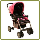 Deluxe puschchair, pink, aluminium - Prams and Pushchairs, Promo