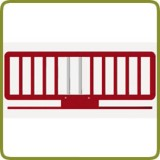 Wooden Bed rail red - Safety Gates and Playpens