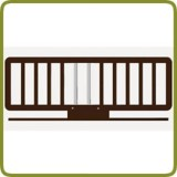 Wooden Bed rail wengé - Safety Gates and Playpens