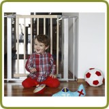Safety gate Lily 72,5-81cm, wood + metal, grey (ext to 132cm) - Safety Gates and Playpens