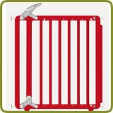 Safety gate Nina M red - Safety Gates and Playpens
