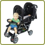 Exclusive Tandem - Twin Pram black -  - Prams and Pushchairs, Promo
