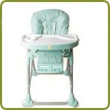 High Chair Up and Down blue incl. double tray - Highchairs and baby chairs, Promo