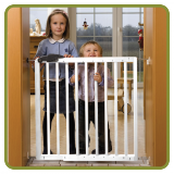 Safety gate Nicolas 78,5 - 113,5cm, wood, white - Safety Gates and Playpens