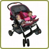 Deluxe Tandem - Twin Pram rose - - Prams and Pushchairs